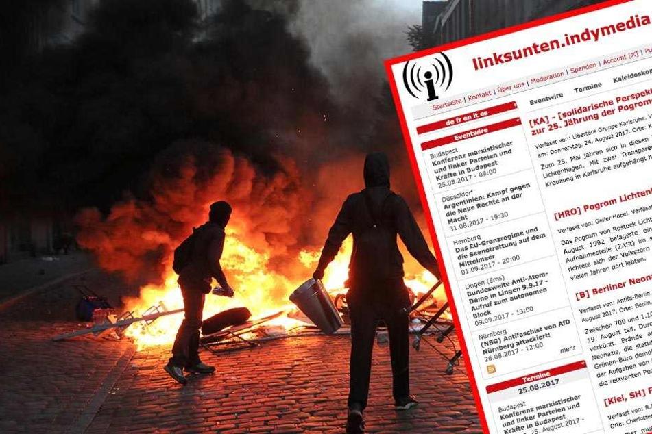 """Das Bundesinnenministerium hat die linksextreme Plattform """"linksunten.indymedia.org"""" verboten."""