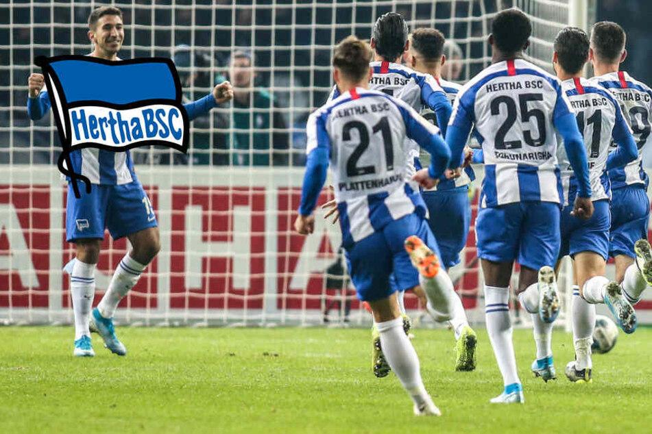 """Hertha zwischen Pokal-Krimi und Derby: """"Wäre geil, wenn wir so ein Spiel jede Woche hätten"""""""
