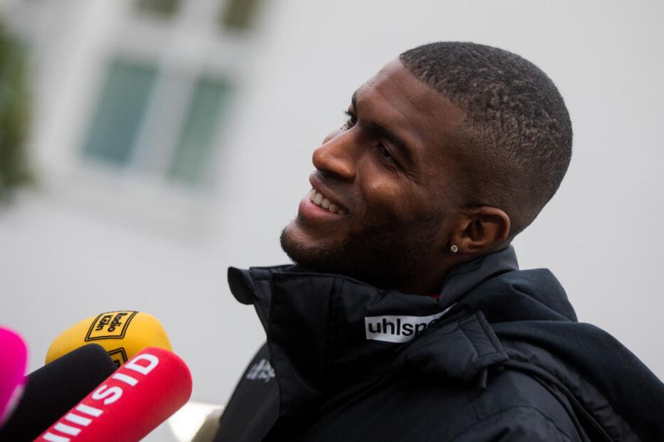 Anthony Modeste (30) bei seinem ersten Training mit dem 1. FC Köln im November 2018.