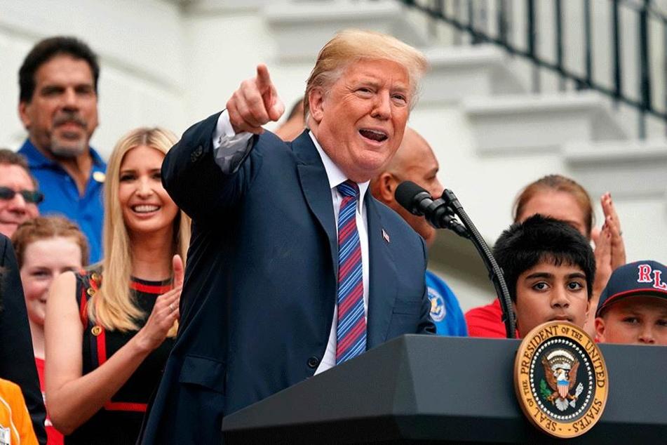 US-Präsident Donald Trump erließ den Export von Aluminium und Stahl in die USA Strafzölle gegen die EU, Mexiko und Kanada.