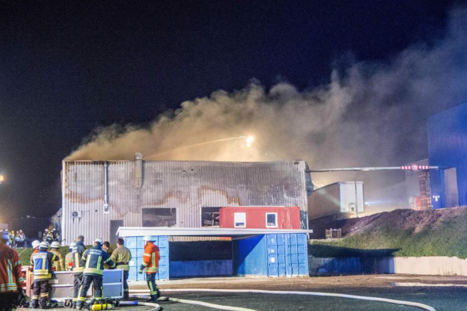 Der Brand brach in einer Produktionshalle aus.