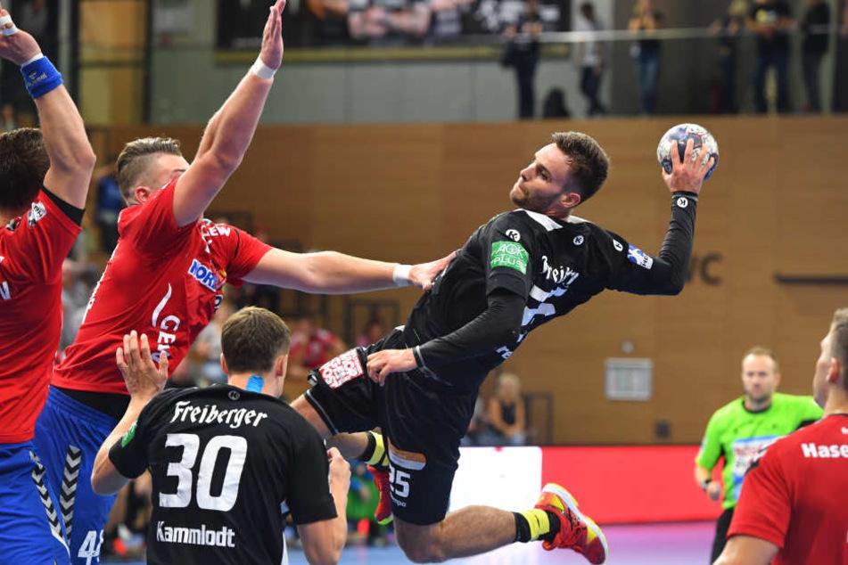 Der Dresdner Sebastian Greß sicherte damals den Erfolg des HC Elbflorenz.