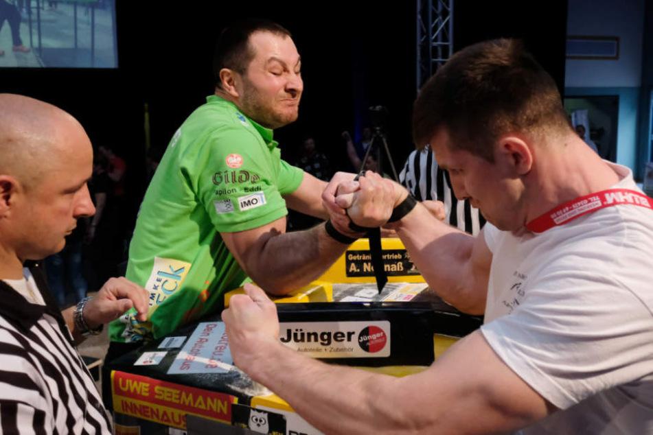 Die Teilnehmer Aslan Gubaev (l.) und Dennis Dukhanin bei der Meisterschaft 2017.