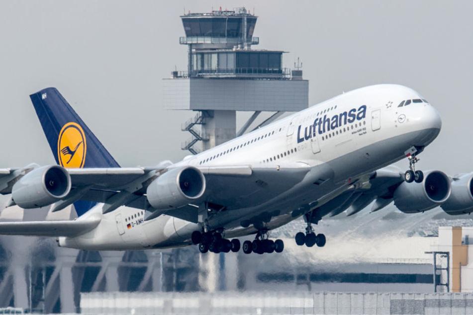Der A380 konnte nicht in Frankfurt landen und drehte in Richtung Stuttgart ab. (Symbolbild)