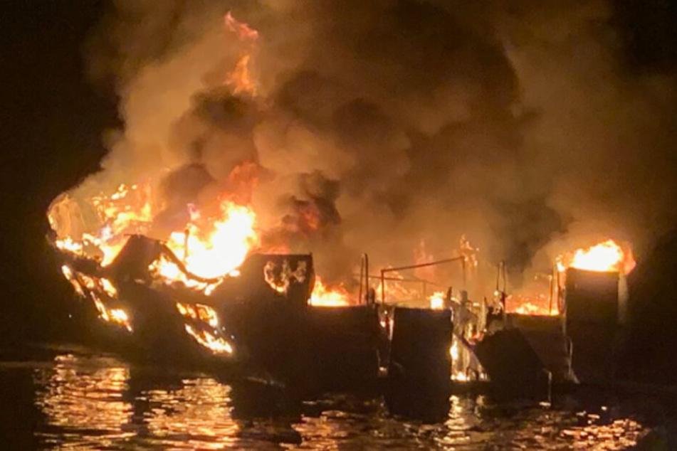 """Das verheerende Feuer auf dem Tauchschiff """"Conception"""" kostete 34 Menschen das Leben."""