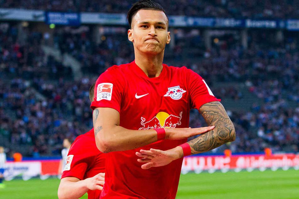 Schluss aus! Davie Selke beim Torjubel nach seinem 4:1-Treffer bei Hertha BSC. Trägt er ab kommender Saison wieder das Werder-Trikot