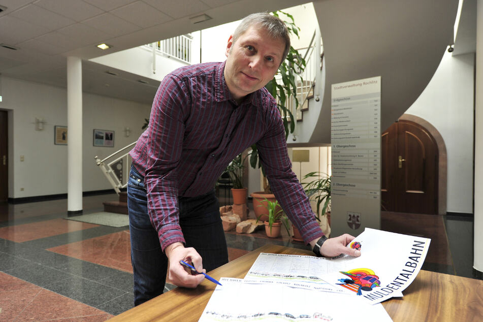 Hofft auf viele Unterzeichner: Der Rochlitzer Oberbürgermeister Frank Dehne (48, parteilos).