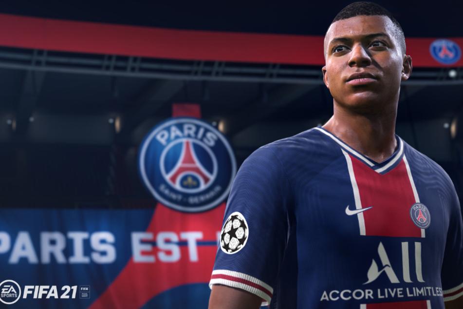 Topstar Kylian Mbappé von Paris Saint-Germain ziert das Cover von FIFA 21.