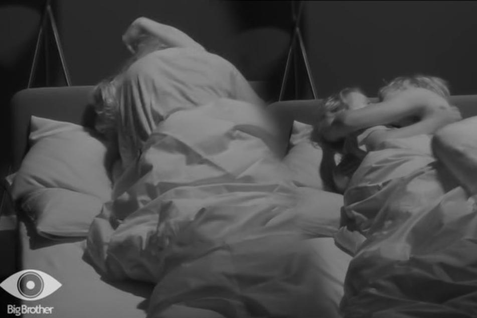 Küsse, kuscheln und Liebe? Die erste Nacht von Tim und Rebecca (beide 21) im Einzel-Schlafzimmer.