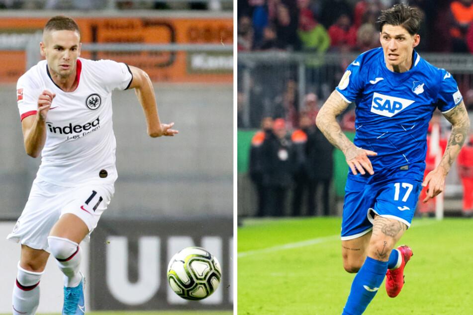 Mijat Gacinovic (25, l.) wechselte von Eintracht Frankfurt zur TSG 1899 Hoffenheim. Den gegensätzlichen Weg nahm Steven Zuber. (Bildmontage)