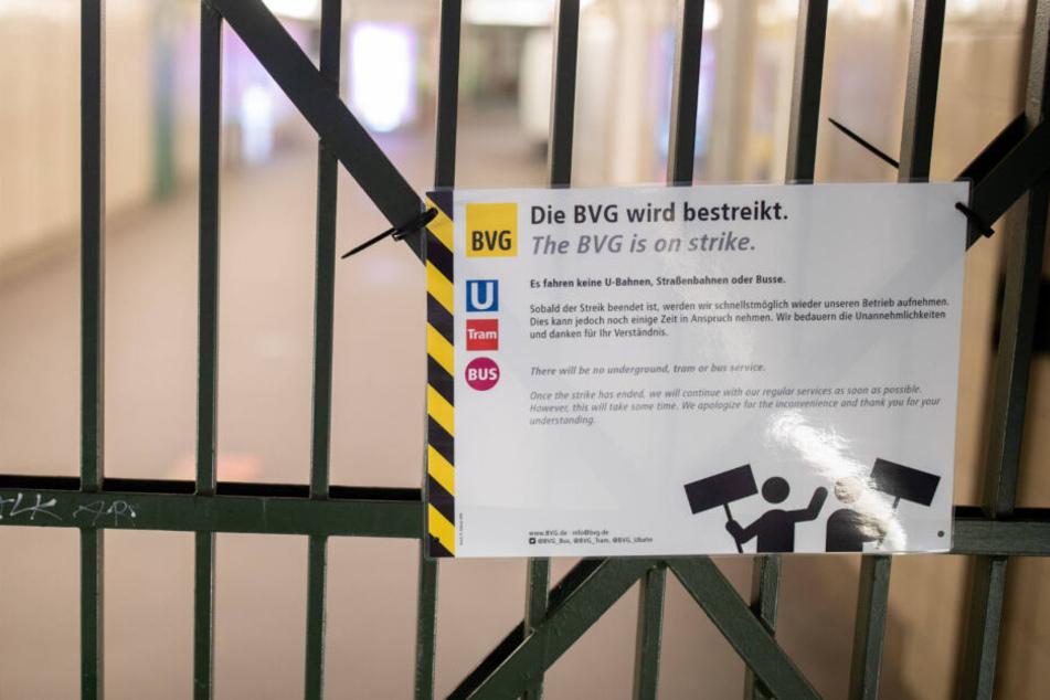 Verdi ruft zu Streik auf: BVG-Beschäftigte legen am Montag Arbeit nieder!