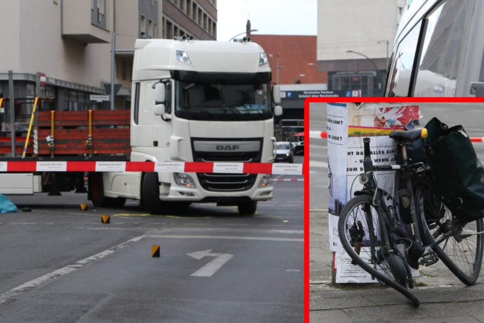 Lebensbedrohlich verletzt: Laster erfasst Radfahrerin