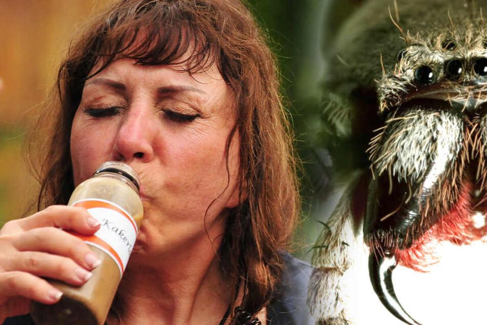 """Das Sorgen-""""Kind"""" im Dschungel: Die Älteste (Polka-Sängerin Tina York). Sie schläft mit offenen Augen! Sie isst nicht, sie schwankt... Wie geht es weiter mit ihr? Zur Prüfung ist sie gesperrt - natürlich!"""