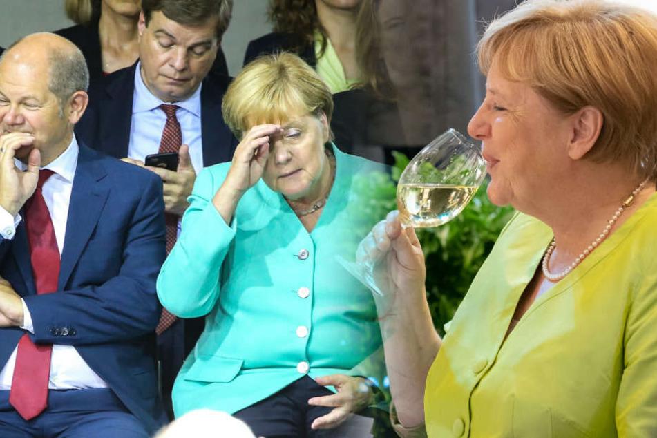 Angela Merkel nimmt am Montag die Arbeit wieder auf. (Bildmontage)