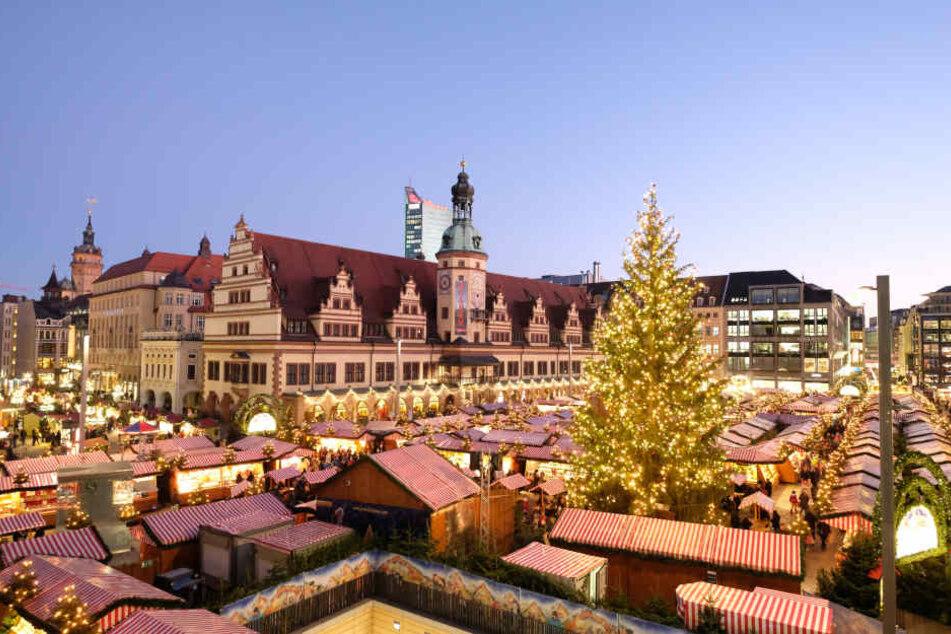 Zahlreiche Verkehrseinschränkungen gibt es auch dieses Jahr zum Weihnachtsmarkt in Leipzig.