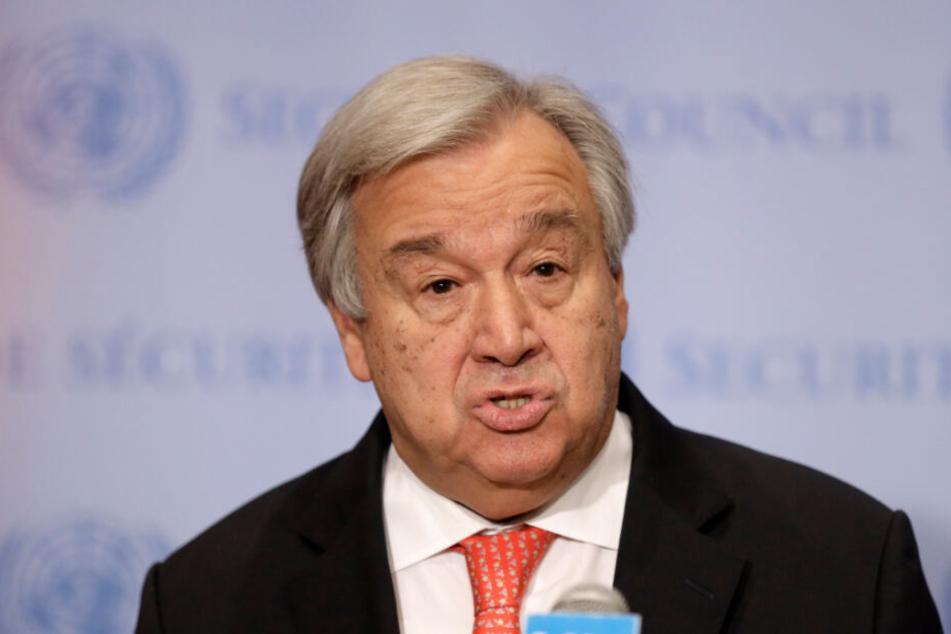 UN-Chef António Guterres ordnete die Sparmaßnahmen an.