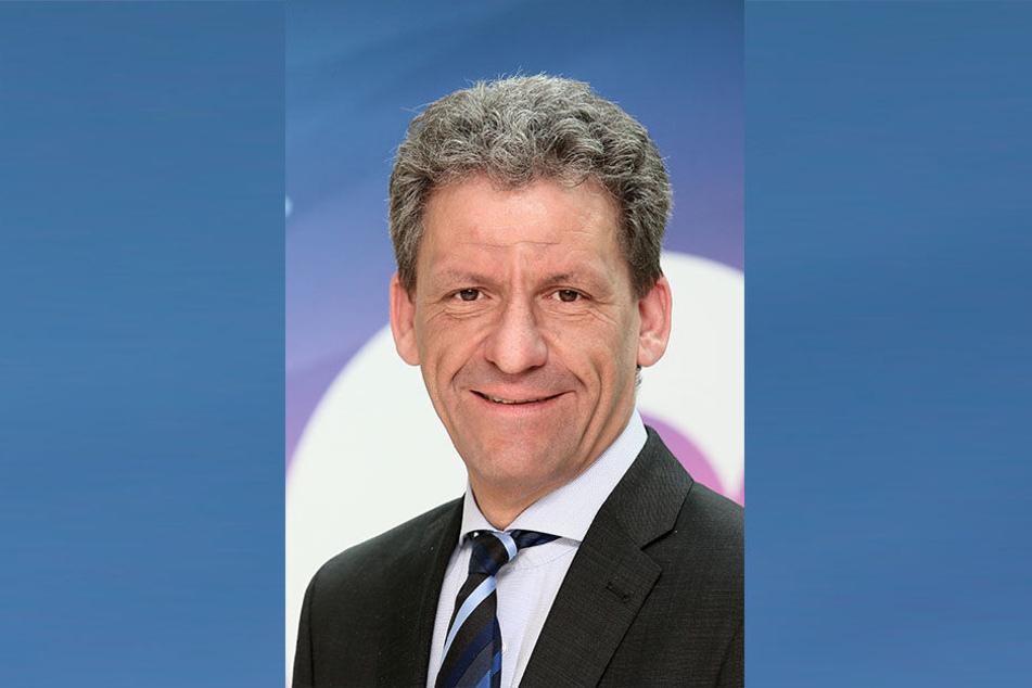 Stadtsprecher Mathias Merz (48) wirbt für Mobilitätsstandort Zwickau.