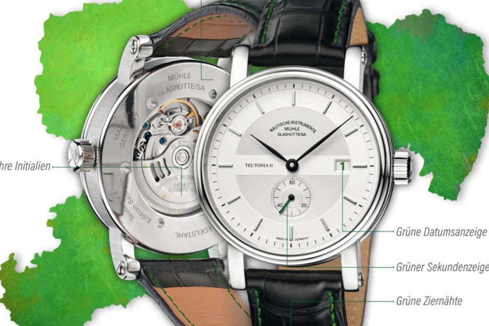 Die Sachsen-Uhr sieht edel aus, gebaut wird sie aber nur auf Bestellung, maximal 111 mal.
