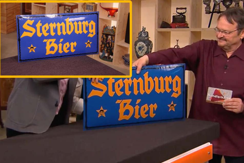 """Kult-Bierschild bei """"Bares für Rares"""": Was bringt die Sterni-Werbung?"""