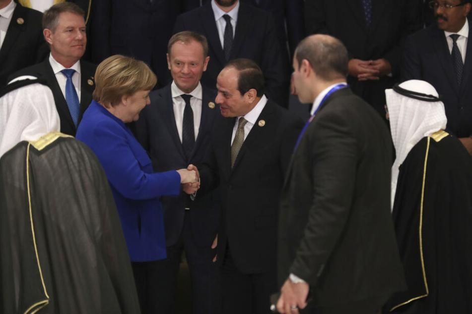 Bundeskanzlerin Angela Merkel trifft den ägyptischen Präsidenten Abdel-Fattah El-Sisi.