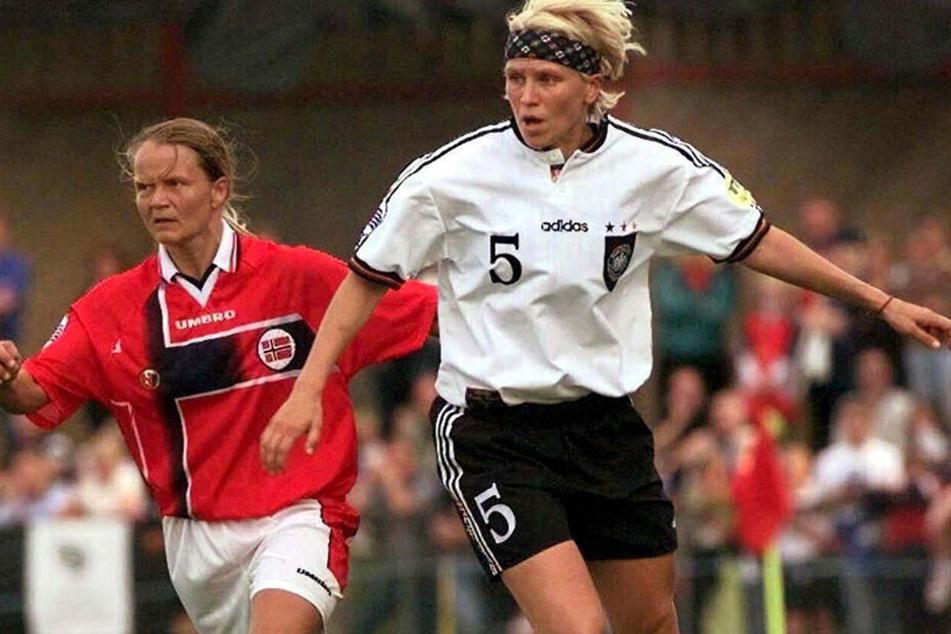 Fitschen bei der Frauen-EM 1997 in Norwegen.
