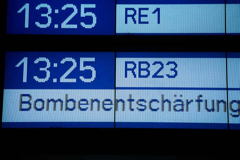 Von und nach Potsdam fährt für mehrere Stunden kein Zug mehr.