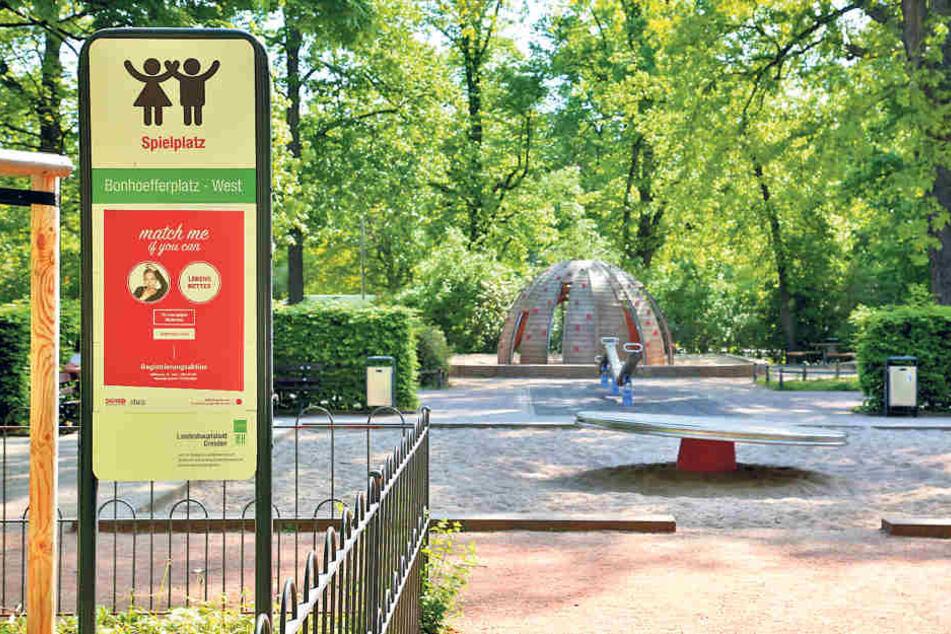 Tatort Spielplatz: Am Bonnhoefferplatz ging der Täter auf sein Opfer los.
