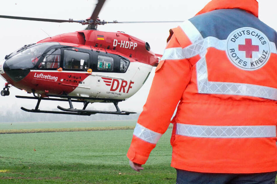 Ein Rettungshubschrauber brachte den Jungen auf schnellstem Weg ins Krankenhaus (Symbolbild).