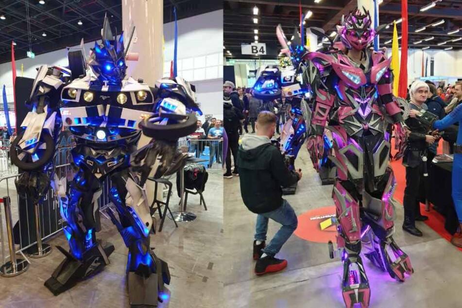 Andreas Bauer war in seinem überdimensionalen Transformers-Kostüm einer der Hingucker der Gamevention. (Fotomontage)