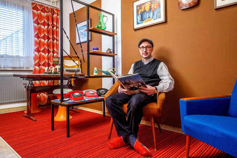 Gäste durften sogar seine Toilette nutzen: Mister Gorbitz lud zum Museums-Besuch in die eigene Wohnung ein.