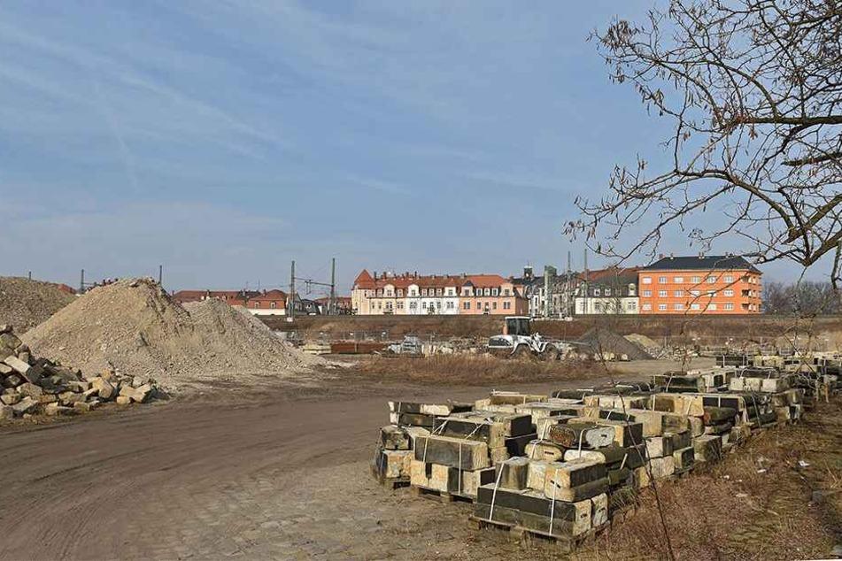 Die Harkortstraße zwischen Pieschen und der Neustadt: Grüne und SPD wollen hier so schnell wie möglich ein Bad bauen.