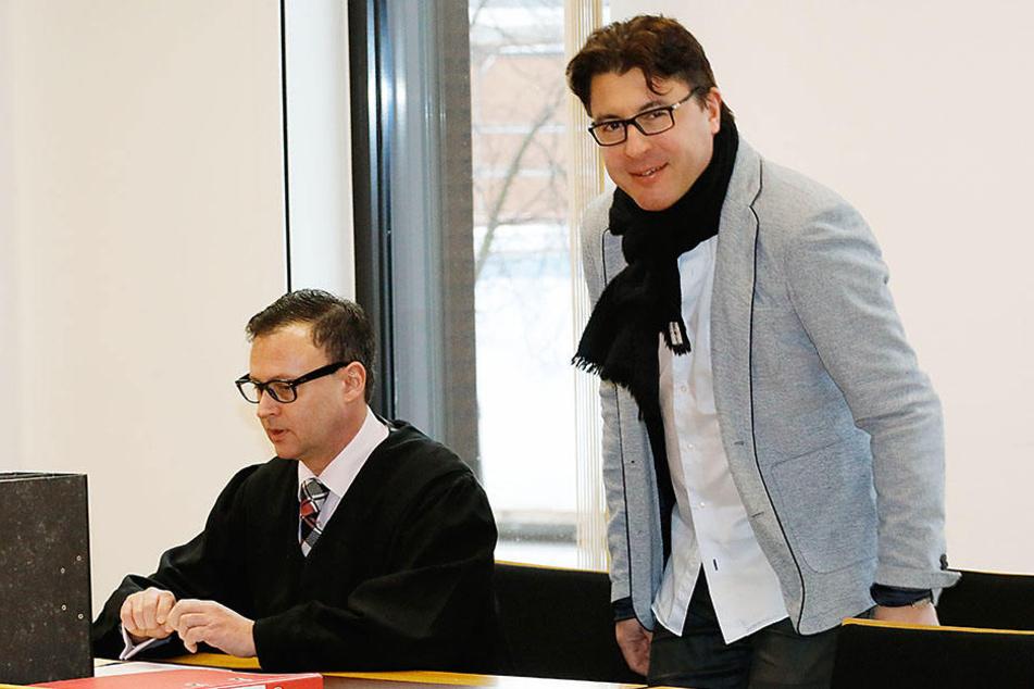 Christian Weise (48, r.) mit seinem Anwalt Jan Richter (r.).