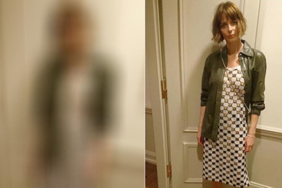 Zum ersten Mal ohne Baby unterwegs: In diesem Outfit zeigte sich Eva am Wochenende.