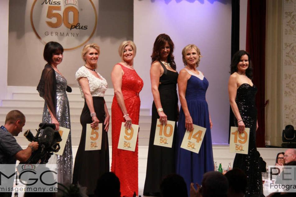 So präsentierten sich die Ü50-Kandidatinnen beim Miss-Contest im vergangen  Jahr.