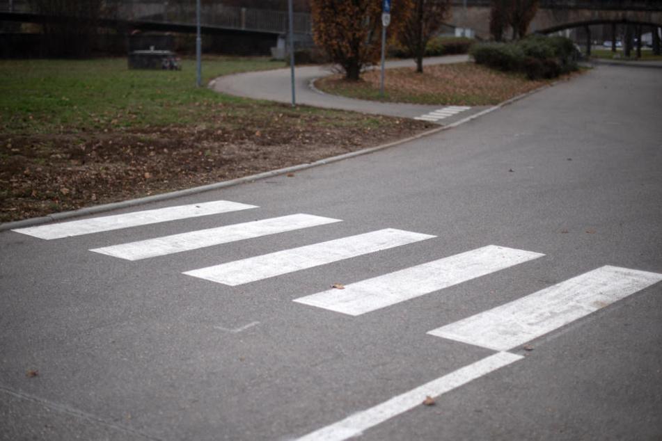 Irre: Dieser Zebrastreifen endet in einer Wiese!