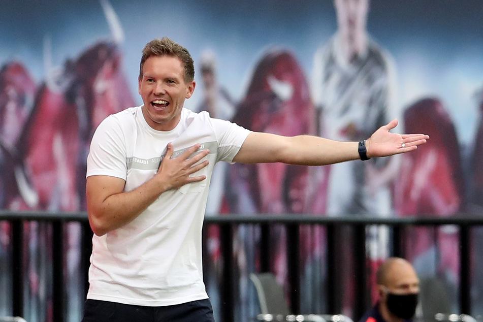 """""""Überhaupt nicht zufrieden"""": RB-Coach Julian Nagelsmann (32)."""