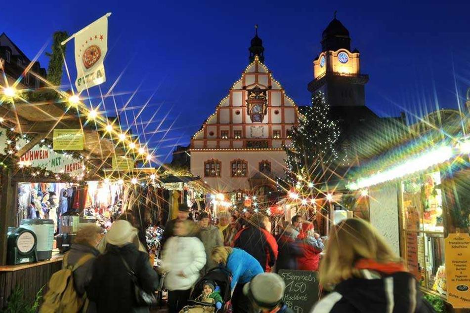 Die Spitzenstadt Plauen ist auch bei der Weihnachtsbeleuchtung spitze.
