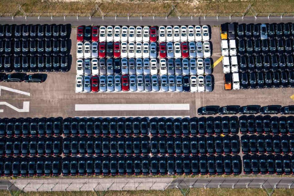 Geparkte Fahrzeuge auf dem Flugplatz Ahlhorn.