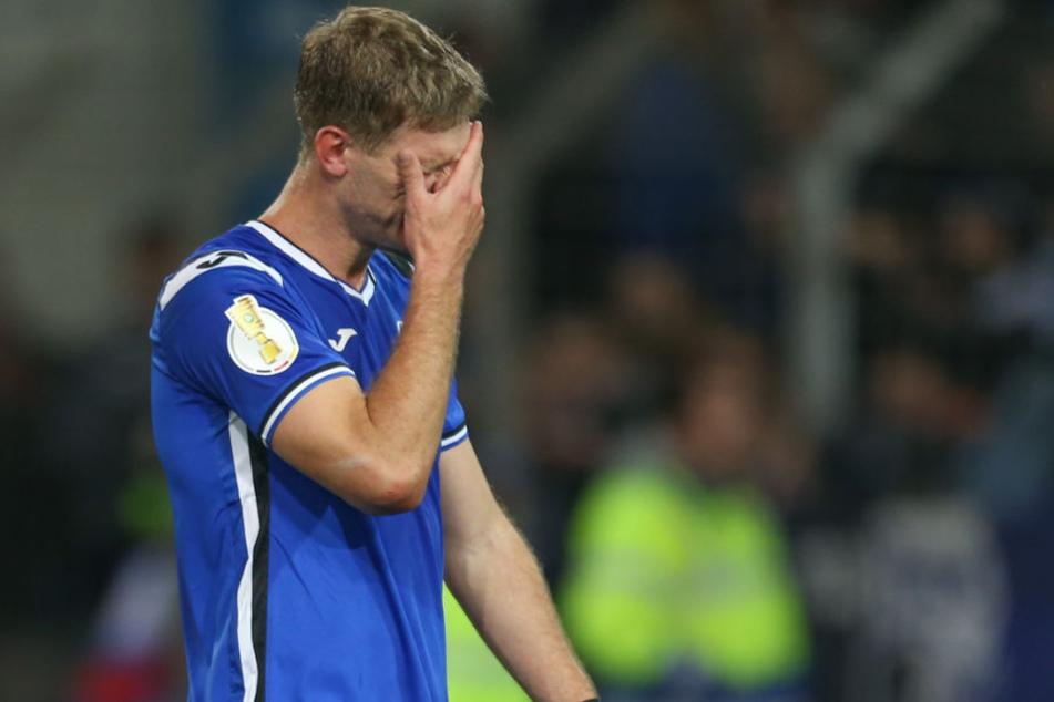 Fabian Klos möchte nach dem Spiel gegen den SC Paderborn nicht Trübsal blasen müssen.
