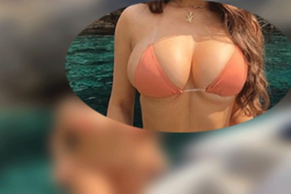 Massive Kurven im knappen Bikini: Wer ist diese Göttin?