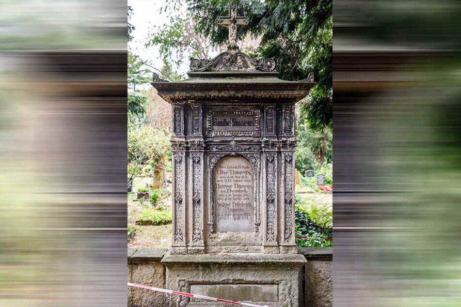 Auf dem Inneren Neustädter Friedhof findet sich das Grab der Familie Timaeus.