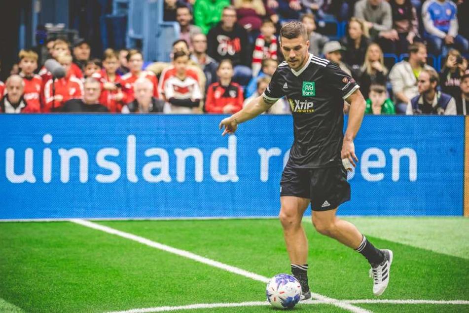Lukas Podolski sucht noch Mitspieler beim Hallencup