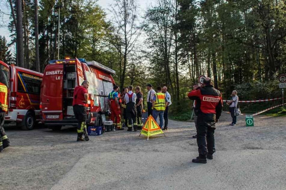 Zeitweise waren rund 200 Feuerwehrleute im Einsatz.