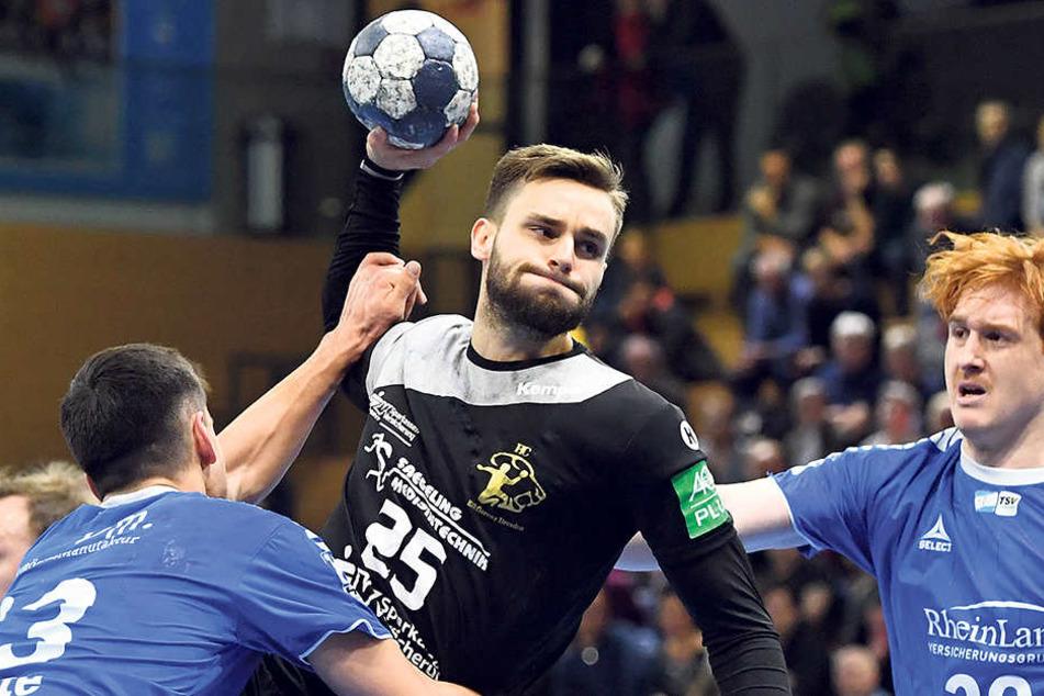 Sebastian Greß erzielte vier Tore gegen Dormagen, vergab aber auch einige gute Chancen.