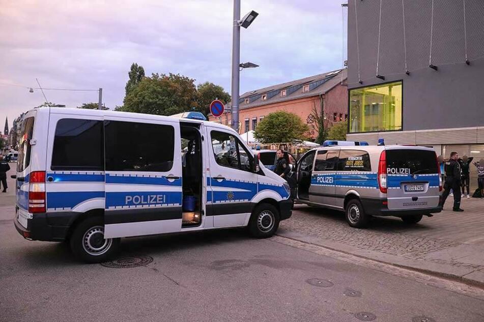 In der Äußeren Neustadt waren 40 Polizeibeamte im Einsatz (Symbolbild).