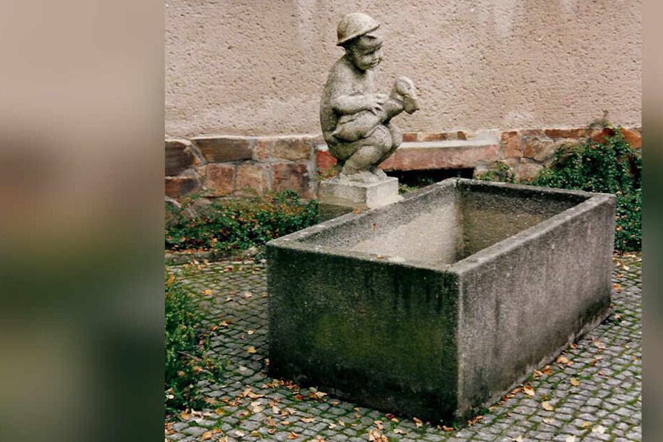 In Limbach-Oberfrohna wurde diese Brunnenfigur gestohlen.