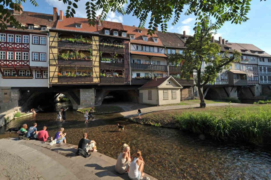 Die Schlägerei fand im Bereich Krämerbrücke statt.