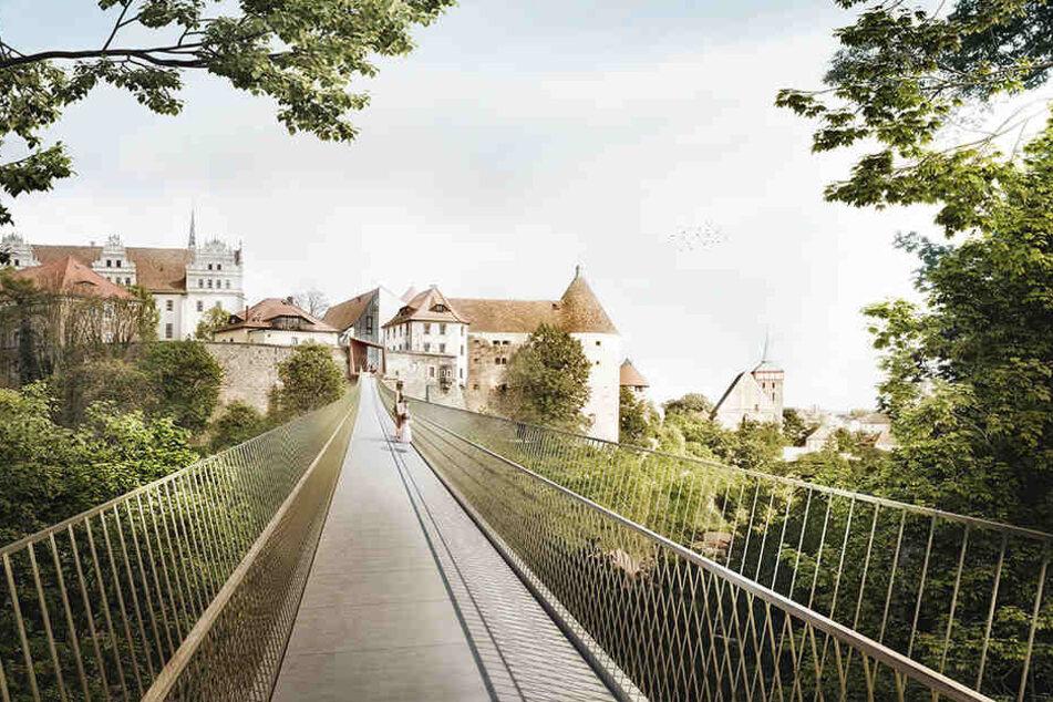 So könnte die geplante Fußgängerbrücke aussehen.
