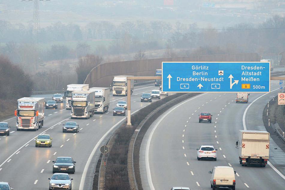 Die nächsten Monate geht es auf diesem Abschnitt Richtung Chemnitz nur mit Tempo  80 und verengten Fahrstreifen voran.