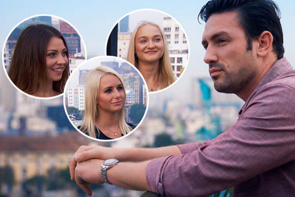 Kristina (v.l.n.r.), Carina und Svenja: Für wen wird sich Daniel entscheiden?